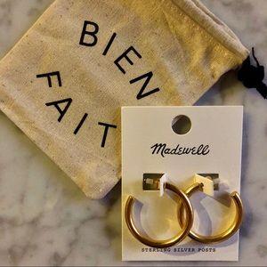 234fc0b6342257 Madewell Jewelry | Nwt Chunky Medium Hoop Earrings | Poshmark